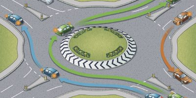 Learn to drive around roundabouts